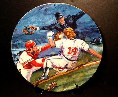 """Vintage 1985 ''moments Of Victory'' Baseball Avon Collector 7 1/8"""" Plate"""