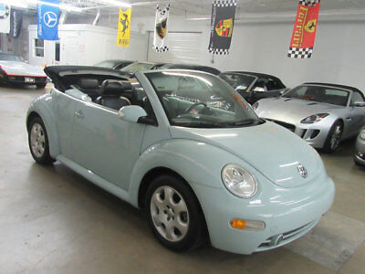 2003 Volkswagen Beetle-New 2dr Convertible GLS Automatic ACQUARIUS BLUE 42000 MILES STUNNING FLORIDA NONSMOKER FULLY SERVICED CLEANCARFAX