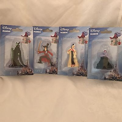 New! Disney Villain Figurine Toys Ursula, Cruelly, Capt. Hook, Maleficent