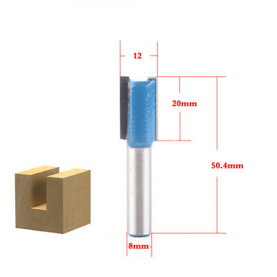 1pcs 12mm straight bit 8mm shank wood working tools router bits milling cutter