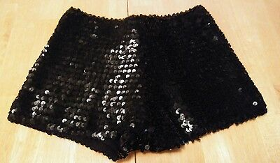 Preowned Wendy O Black Sequin Shorts one size club dancer drag queen entertainer