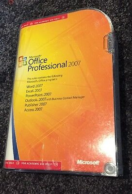 Microsoft Office Professional 2007, Academic Version
