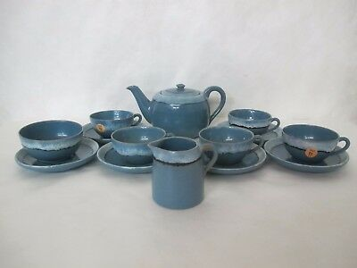 Decorated C.1920 Saturday Evening Girls Pottery Tea Set With 15 Pieces Signed
