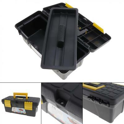10inch Protable Tool Box with Removable Two-Layer Tobe Tray Tool Kit for Home