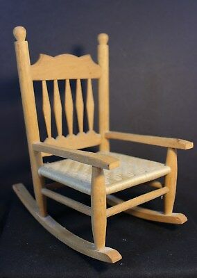 Vintage - Doll Chair - Rocking Chair - 7.5 Inches Tall