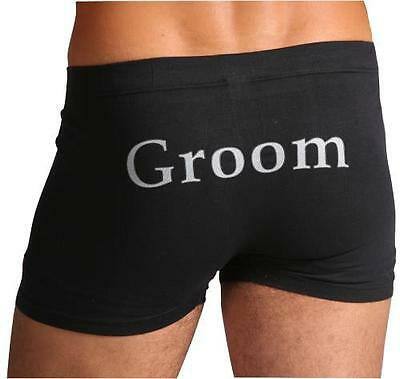 """Mr Right"" Wedding Trunks Bucks Night Trunks Size Large RRP $29.95"