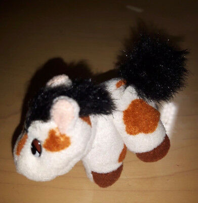"POUND PONIES from the Pound Puppies Family. Mini 3"" beige/brown/black plush pony"