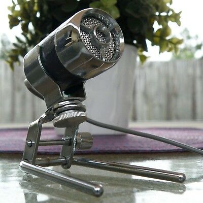 1960s VINTAGE PLANET JAPAN DYNAMIC METAL MICROPHONE + STAND, WITHOUT CARTRIDGE