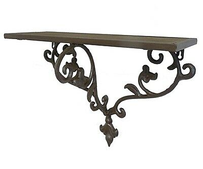 Support Etagere Mural Console Gueridon Sellette Tablette d'Appoint Decorative