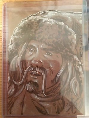 The Hobbit Battle Five Armies Sketch Card by Fer Galicia of Bofur