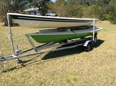 Laser sailing boats x 2 on REGISTERED trailer