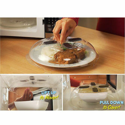 Microwave Hover Anti-Sputtering Cover w/ Steam Vents Food Splatter Guard Tool TP