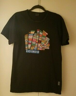 Original Radiohead 2003 Hail To The Chief Vintage Tour Large Black T shirt