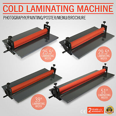 "Cold Laminator Laminating Machine Manual Roller Advanced Tech 25"" 29"" 39"" 51"""