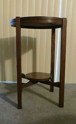 Antique Mission Arts and Crafts Wood Side Table