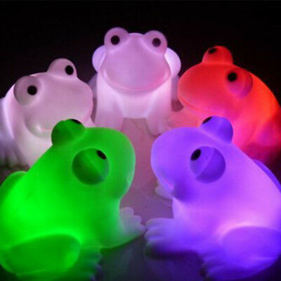 Cute Frog Night Light Novelty Lamp LED Changing Colors Colorful Newest Magic LED