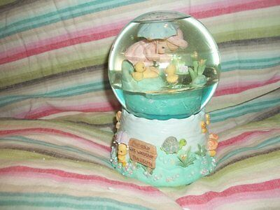 "2001 Precious Moments Musical Waterball by Enesco plays ""Waltz of the Flowers"" 6"