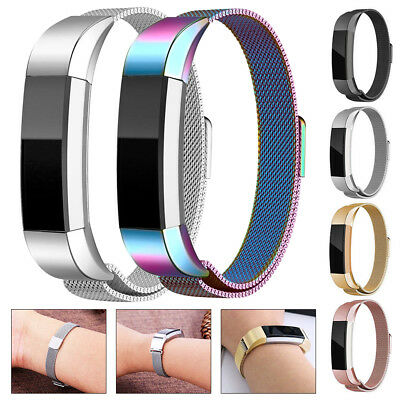 Replacement Silicone Stainless Steel Wristband Band Strap For Fitbit Alta&AltaHR