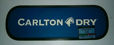 Carlton Dry Beer brand new rubber backed bar drink mat runner for home pub club