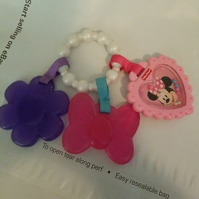 Minnie Mouse Disney Teething Ring Rattle Toy