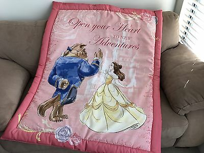 Pink Beauty and the Beast Cot Quilt or Playmat Handmade NEW