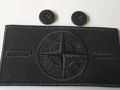 Stone island badge genuine black ghost shadow project  with buttons