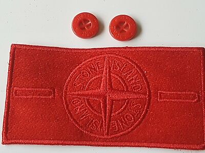 SUPERB Stone Island RED Ghost badge silk lined & 2 Buttons SALE!