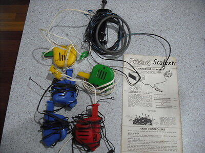 Scalextric Slot Car Racing Controllers Lot - Untested 6 Controllers