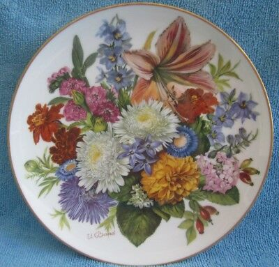 HUTSCHENREUTHER Germany Collectable 19.6cm DISPLAY PLATE Autumn Colours U.Band