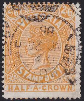 Stamps Australia - Victoria 2/6d Stamp Duty Yellow - Dated 1888.