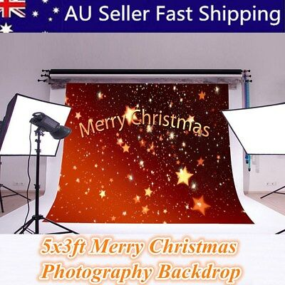 5x3ft Merry Christmas Vinyl Party Photography Background Studio Prop Backdrop