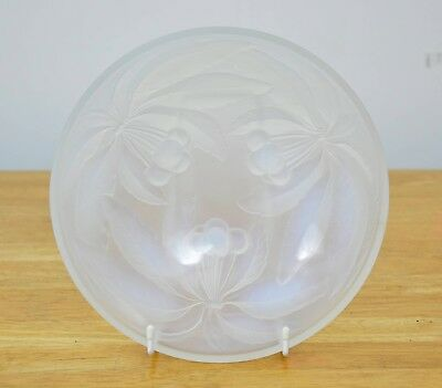 Art Deco G. VALLON French Opalescent Glass CHERRY BOWL 1930s