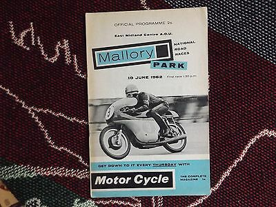 1962 Mallory Park Programme 10/6/62 - National Road Races