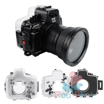 Seafrogs 40m/130ft Underwater Housing Diving Case for Canon EOS 760D Camera