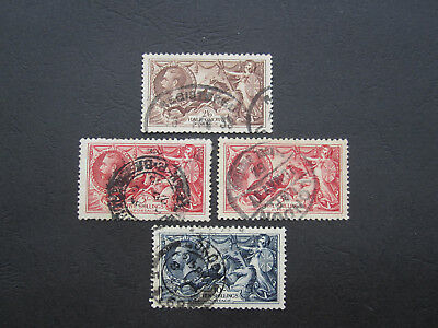 Gb Stamps Kgv - Sg450/1/2  Seahorse Set - G/fine Used - Two Scans