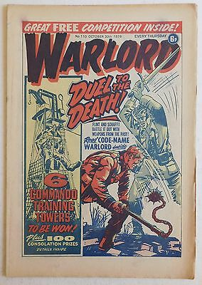 WARLORD Comic #110 - 30th October 1976