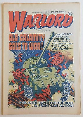 WARLORD Comic #94 - 10th July 1976