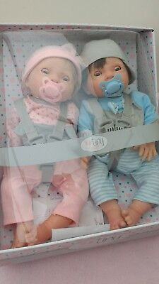 Brand new Chad Valley Tiny Treasures twin baby dolls with dummy, boy & girl!