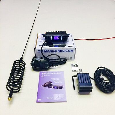 Team CB Radio Mobile Mini Com Starter Kit + Stinger Antenna & Gutter Mount Kit
