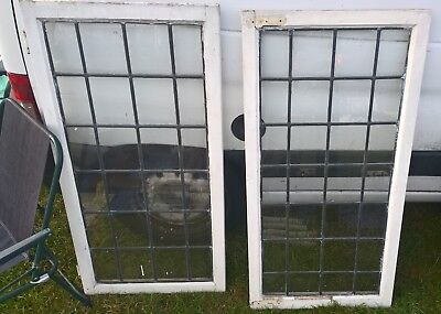leaded glass windows pair bargain Broadstairs ct10