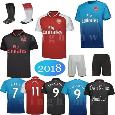 2018 Soccer Football Kits Kids Team Suit Short Sleeve Jersey Kit 3-14 Yrs Socks