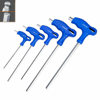 T-Handle Metric Allen Flat Or Ball End Hex Hexagon Wrench Key CR-V 1.5mm - 10mm