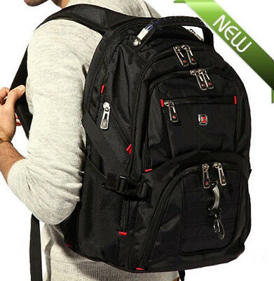 "Men's Rucksack Notebook 15.6"" Laptop Backpack Shoulder Hiking Travel School Bag@"