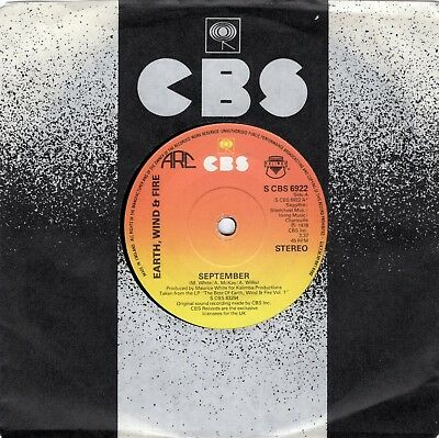 Earth, Wind & Fire - September / Can't Hide Your Love  - Original 1975 UK 45
