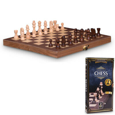 French Cut Chess 30cm book style folding-board