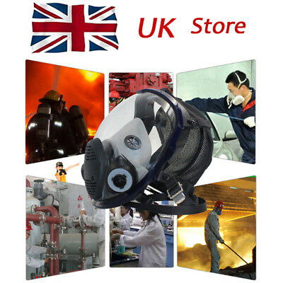 Broad view Facepiece Respirator Gas Mask Full Face For Painting Spraying UK