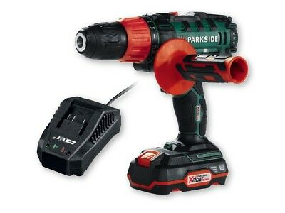 Parkside X 20v Team 2 Speed Cordless Impact Drill + Battery + Charger + Case