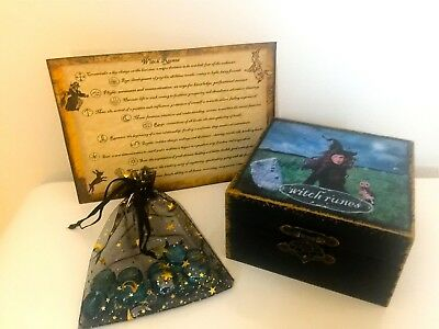 Beautiful Witch Runes in Keep-safe Box & Bag with Guidelines (Set B)