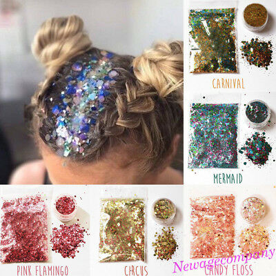 15 Colors Glitter Sequins Powder For Nail Art Party Club Stage Face Body Makeup