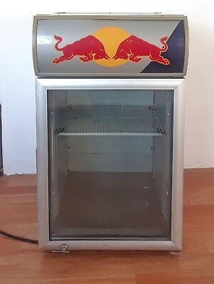 RED BULL Mini Fridge / Cooler, With Lit Display  * Works Great